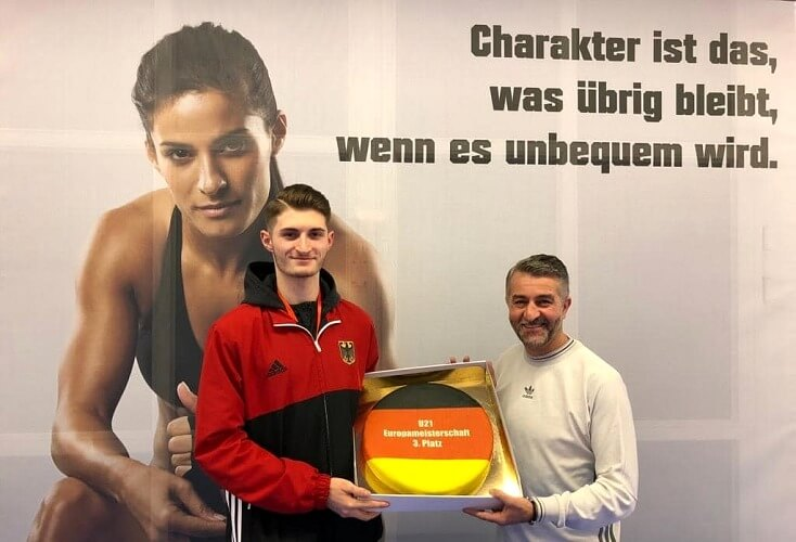Martin Stach mit Coach Dimi Lautenschläger