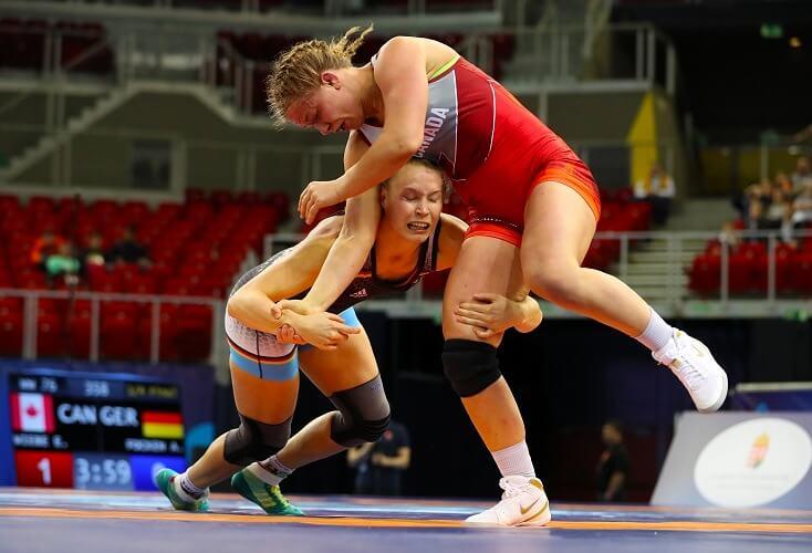 Aline Focken scheitert gegen die Olympiasiegerin (Bild: Picture Alliance)