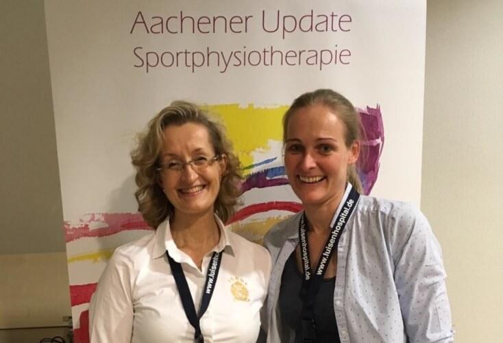 Veranstalterin Dr. Cornelia van Hauten (rechts) und Dr. Elisabeth Exner-Grave, Leiterin des Zentrums für Tanzmedizin Medicos Auf Schalke