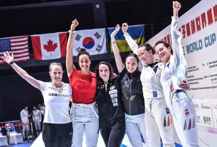 Degenfechterinnen gewinnen Team-Weltcup in China
