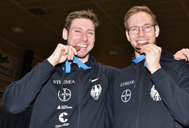 Doppelbronze für Max Hartung und Benedikt Wagner in Padua (Bild: Team Bizzi)