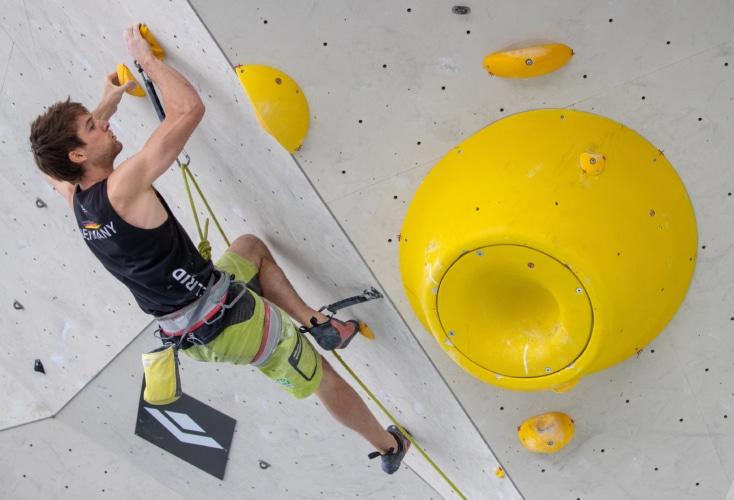 Bild zur News Kletter-WM: Jan Hojer und Yannick Flohé im Boulder-Halbfinale