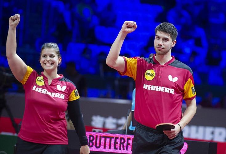 Große Freude bei Petrissa Solja und Patrick Franziska (Bild: MS / Deutscher Tischtennis-Bund)