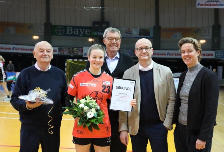 Handballerin Amelie Berger ist Elitesportlerin des Jahres 2018 (Bild: Jörg Dembinski)