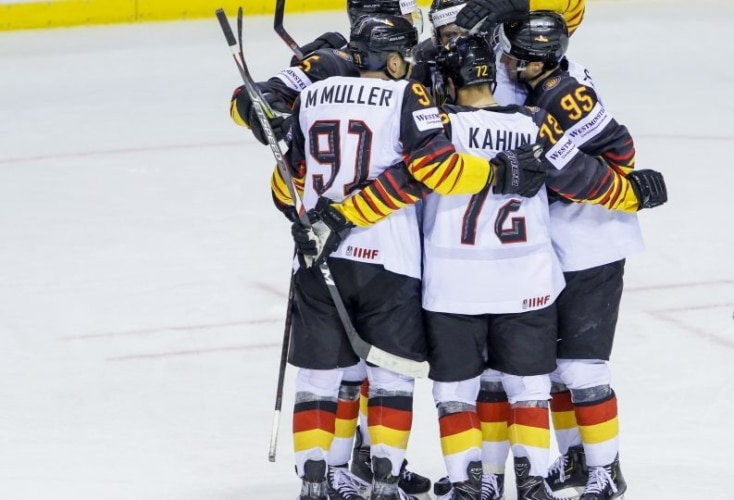 Bild zur News Eishockey-WM: 4:2-Erfolg gegen Tabellenführer Finnland
