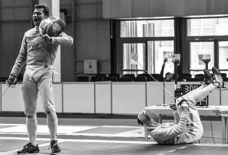 U23 EM in Plvdiv: Säbelfechter Raoul Bonah gewinnt Bronze (Bild: Augusto Bizzi)