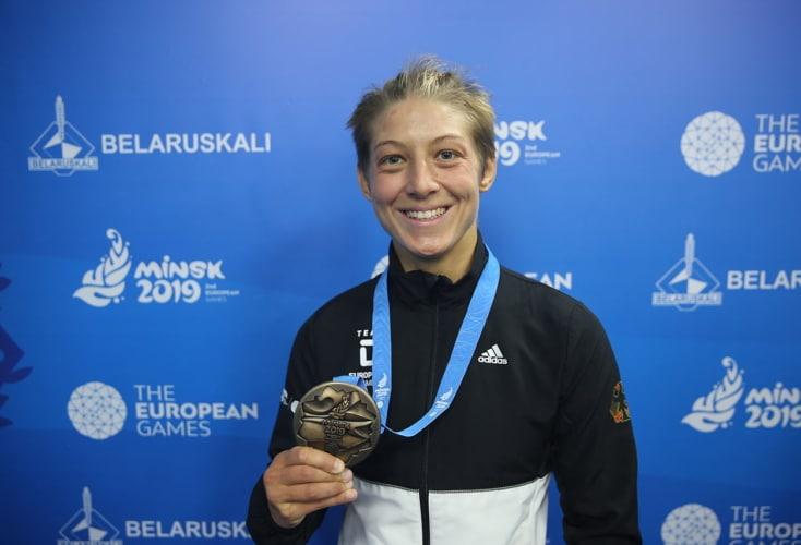 OSP-Athletin Nina Hemmer belohnt sich mit Bronze bei den Europaspielen (Bild: DOSB)