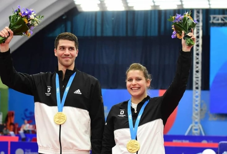 Petrissa Solja und Patrick Franziska sichern sich Gold bei den Europaspielen und damit auch das Olympia-Ticket (Bild: Deutscher Tischtennis-Bund)