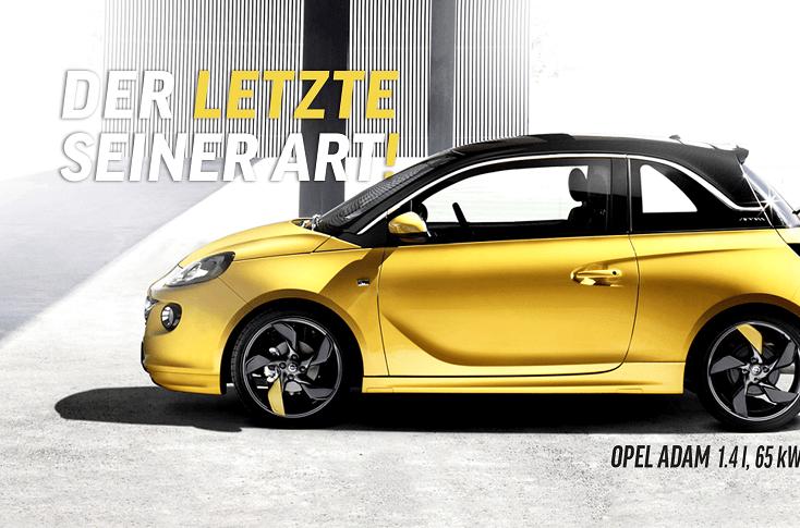 DER  LETZTE SEINER ART - Der Opel Adam (Partner-Angebot von ASS)