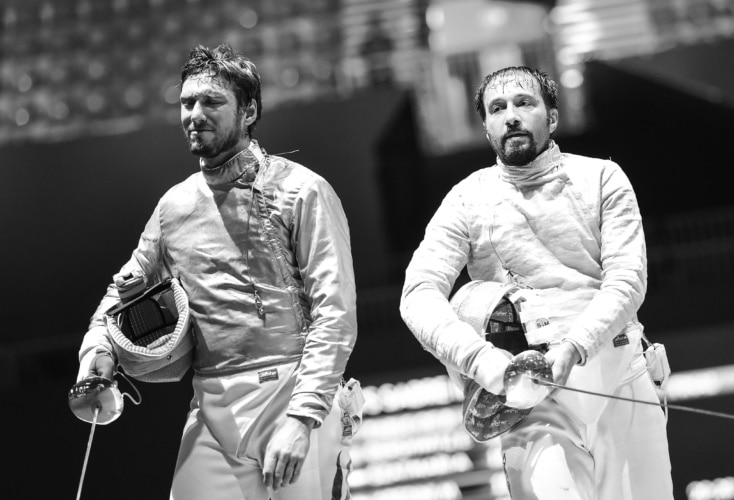 Budapest, 15-23 July 2019  World Championships Sabre Men and Epee Women  In photo: HARTUNG Max vs ABEDINI  Photo by #BizziTeam