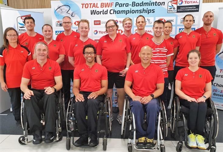 Das Deutsche Team der Para-Badminton-WM in Basel (Bild: DBS)