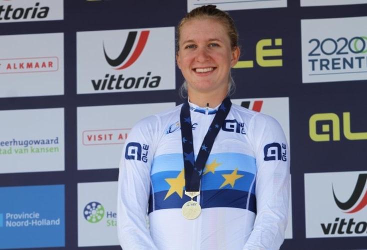 Bild zur News Radsport: OSP-Athletin Hannah Ludwig jagt mit kaputtem Tacho zu EM-Gold in der U23