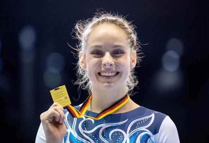 Eine strahlende Siegerin - Sarah Voss (Bild: picture alliance)