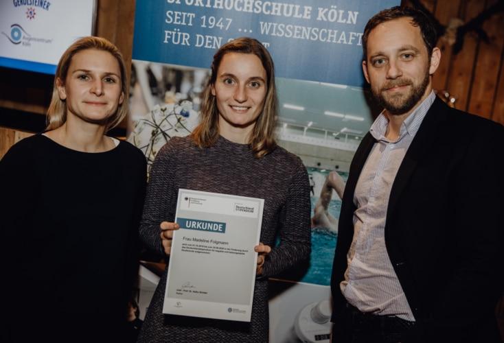 Der OSP NRW/Rheinland fördert Madeline Folgmann mit dem Deutschlandstipendium (Bild: DSHS Köln)