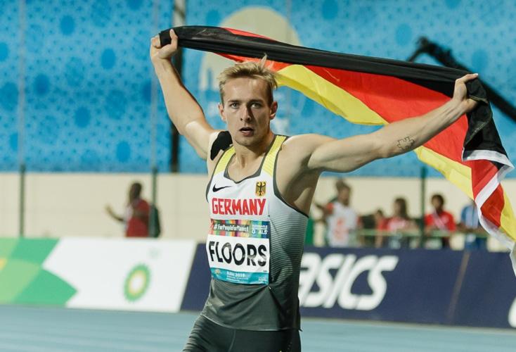 Jubel bei Johannes Floors über seinen Weltrekord und Gold über 400m (Bild: © Binh Truong)