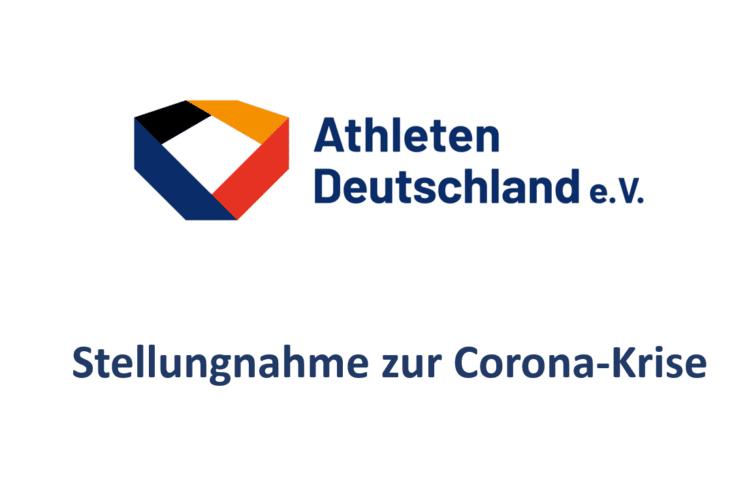 Stellungnahme des Vereins Athleten Deutschland e.V. zur Corona-Krise