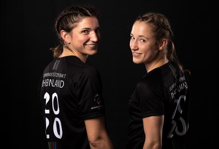 Nadine Apetz (links) und Uschi Gottlob freuen sich auf die Olympia-Qualifikation in London (Bild: OSP Rheinland / Peter Eilers)
