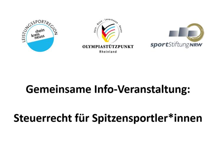 """Bild zur News Verschoben: Veranstaltung """"Steuerrecht für Spitzensportler*innen"""""""