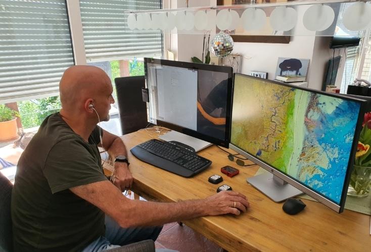 OSP-Leistungsdiagnostiker Dr. Oliver Heine im Home-Office (Bild: privat)