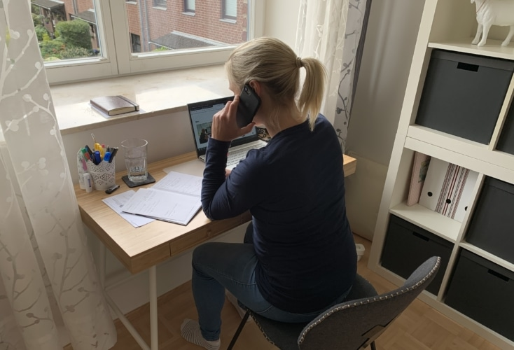 OSP-Laufbahnberaterin Annika Reese im Home-Office (Bild: privat)