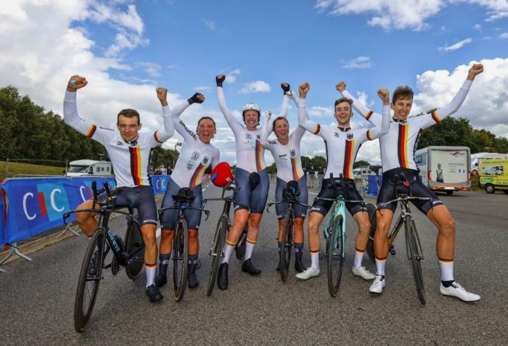 Bild zur News Radsport-EM: Deutsche Mixed-Staffel holt EM-Titel