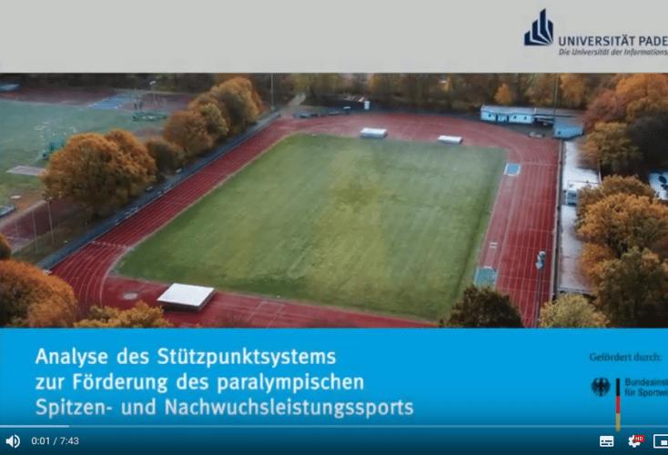 Dokumentarfilm gibt Einblicke in das Stützpunktsystem zur Förderung des paralympischen Spitzensports (Quelle: Universität Paderborn)