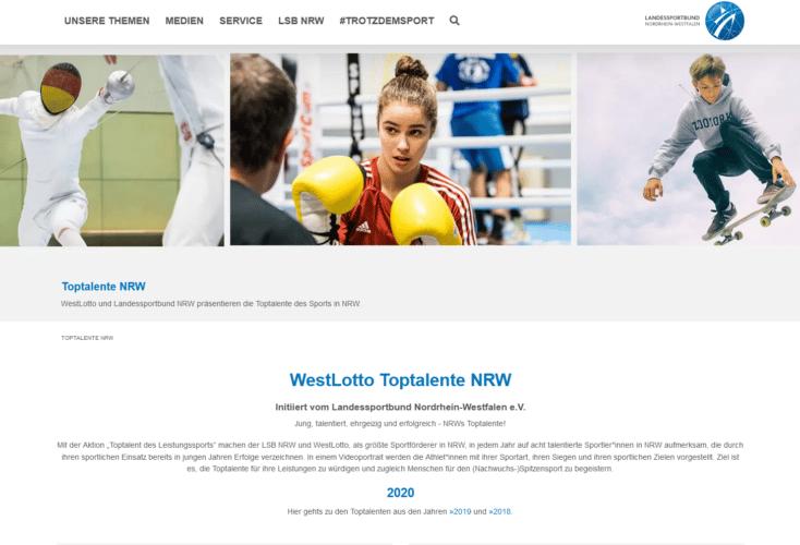WestLotto Toptalente NRW - Initiiert vom Landessportbund NRW e.V.
