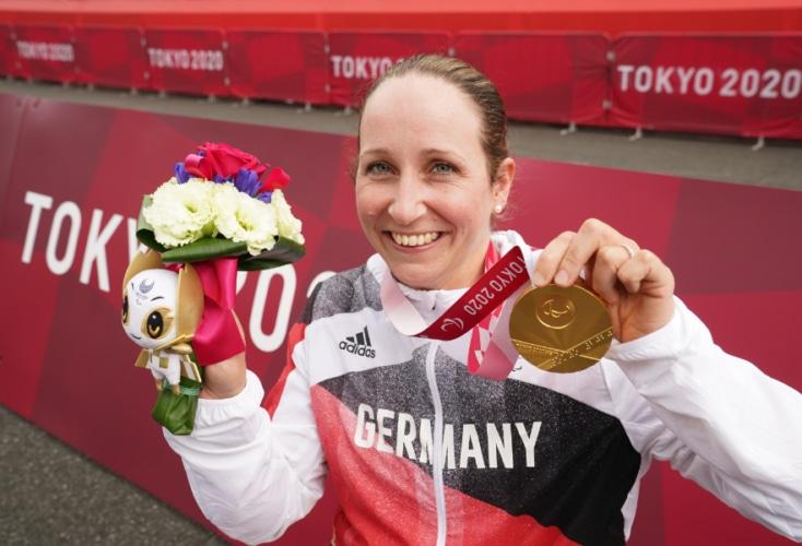 Annika Zeyen: Paralympics-Siegerin im Einzelzeitfahren auf der Straße (Bild: Picture Alliance)