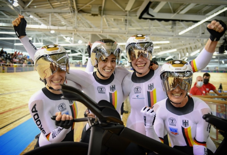 Bahnradsport: Aller guten Dinge sind drei - WM-Gold für Mieke Kröger (Bild: Picture Alliance)
