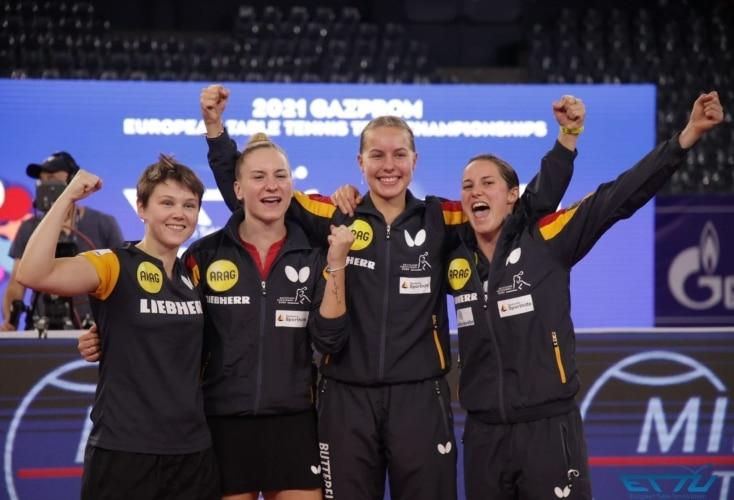 EM-Gold für Tischtennis-Damen (Bild: ETTU)