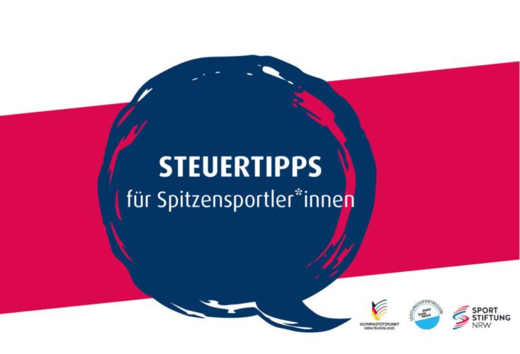 Steuerrecht für Spitzensportler: Große Resonanz auf die Digitale Info-Veranstaltung (Grafik: Sportstiftung NRW)